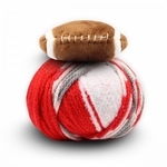 DMC Top This! Football Hat Yarn - Red/White