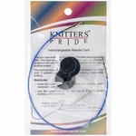"Knitters Pride Interchangeable Cord 11"" Blue (20"" w/tips)"