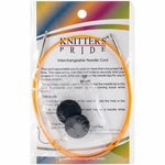 "Knitters Pride Interchangeable Cord 22"" Orange (32"" w/tips)"