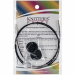 "Knitters Pride Interchangeable Cord 30"" Black (40"" w/tips)"