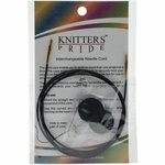"Knitters Pride Interchangeable Cord 37"" Black W/Gold Plated Connectors (47"" w/tips)"
