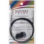 "Knitters Pride Interchangeable Cord 49"" Black (60"" w/tips)"