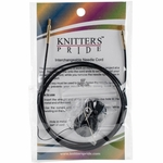 "Knitters Pride Interchangeable Cord 49"" Black W/Gold Plated Connectors (60"" w/tips)"