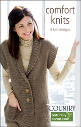Leisure Arts - Comfort Knits with Caron Country Yarn Book