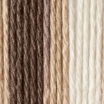 Lily Sugar'n Cream Ombre Yarn Big Ball - Chocolate Ombre