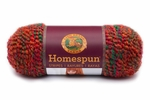 Lion Brand Homespun Yarn - Redwood Stripes