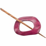Paradise Exotic - Berry Wood Shawl Pin