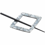 Paradise Exotic - Diamond Shaped Black Shell Shawl Pin