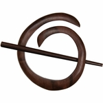 Paradise Exotic - Tiger Ebony Spiral Shawl Pin
