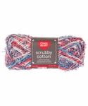 Red Heart Scrubby Cotton Yarn - Nautical Print