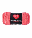Red Heart Super Saver Ombre Yarn - Sea Coral