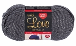 Red Heart With Love Metallic Yarn - Charcoal
