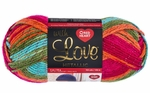 Red Heart With Love Metallic Yarn - Fruity Print