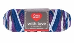 Red Heart With Love Stripes Yarn - Baroque Stripe