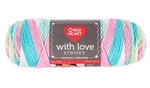 Red Heart With Love Stripes Yarn - Candy Stripe