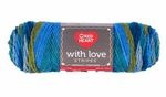 Red Heart With Love Stripes Yarn - Rainforest Stripe
