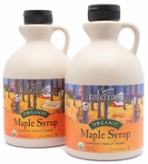 Organic MAPLE SYRUP - AMBER GRADE A - 2/ 1 qt Jugs - OUT OF STOCK