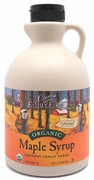Organic MAPLE SYRUP - AMBER GRADE B - 12/ 1 qt Jugs - OUT OF STOCK