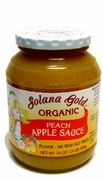 Organic PEACH APPLE SAUCE - 3/ 24 oz Jars