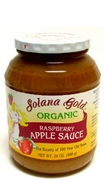 Organic RASPBERRY APPLE SAUCE - 3/ 24 oz Jars