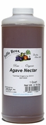 Organic RAW AGAVE NECTAR - 6/ 1 QT. (2.78 LB.)  Bottles  (16.68 LBS.) - out of stock