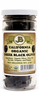 Organic Sun Dried - GREEK BLACK OLIVES - 3/ 5 oz Jars