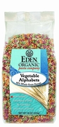 Organic VEGETABLE ALPHABETS - 3/ 16 oz Boxes