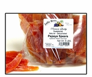 PAPAYA SPEARS, NON-ORGANIC (sugar added) - 2 LBS