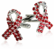 Aids Awareness Cufflinks Silver