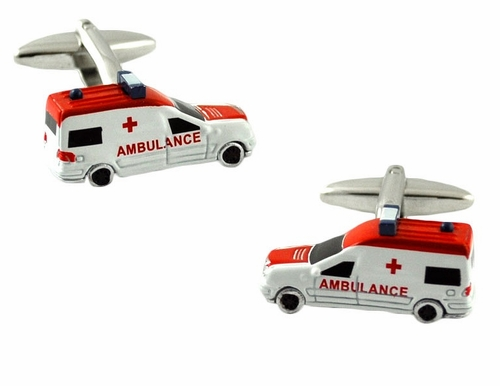 Ambulance Cufflinks for Paramedics