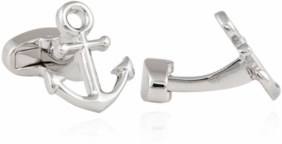 Anchor Cufflinks in Silver