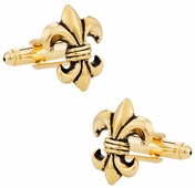 Antique Gold Fleur Di Lis Cufflinks