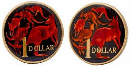 Australian Coin Cufflinks Hand Painted