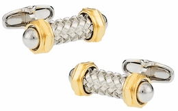 Austrian Capped Rod Cufflinks with Gold
