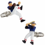 Baseball Pitcher & Batter Cufflinks
