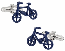 Bicycle Cufflinks in Blue