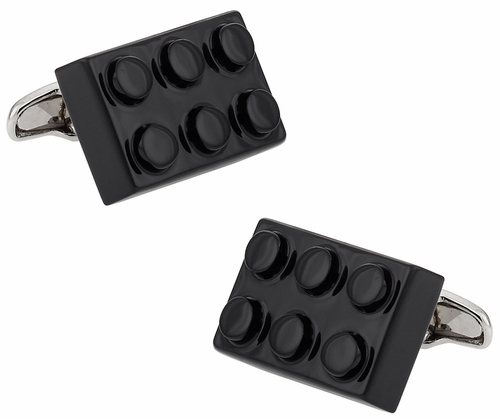 Black Building Block Cufflinks