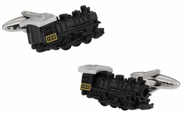 Black Locomotive Train Cufflinks