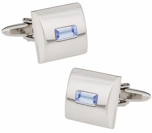 Blue Crystal Cufflinks