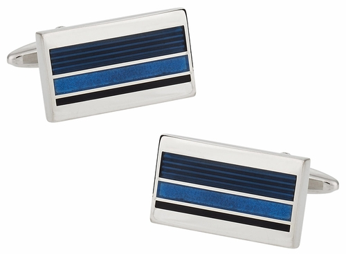 Blue Professional Cufflinks