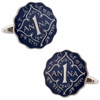 British India 1 Anna Painted Coin Cufflinks