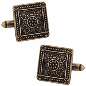Bronze Victorian Square Cufflinks