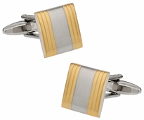 Brushed Gold Silver Cuffs