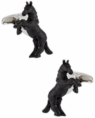 Bucking Bronco Horse Cufflinks Hand Painted
