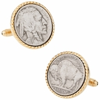 Buffalo Nickel Cuff links