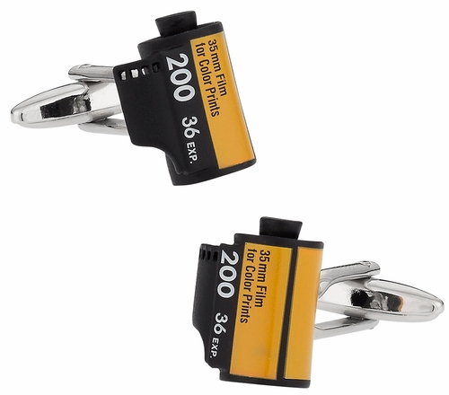 Camera Roll Film Cufflinks