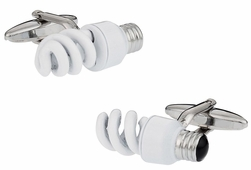 CFL Lightbulb Cufflinks