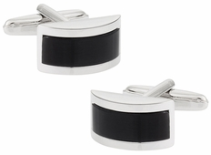 Charcoal Gray Fiber Optic Cufflinks