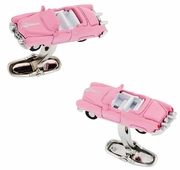 Classic Car Cufflinks 1950s in Pink