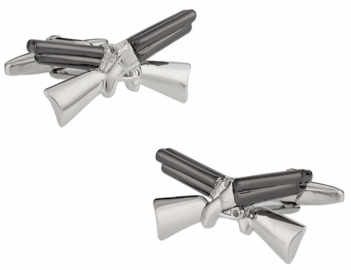 Crossed Shotgun Cufflinks
